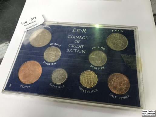LOT 313	~	The Coinage of Great Britain 1966