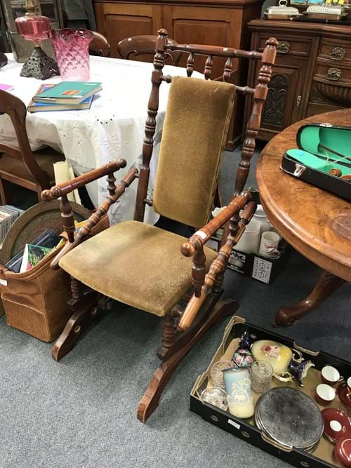 LOT 336	~	Antique Rocking Chair