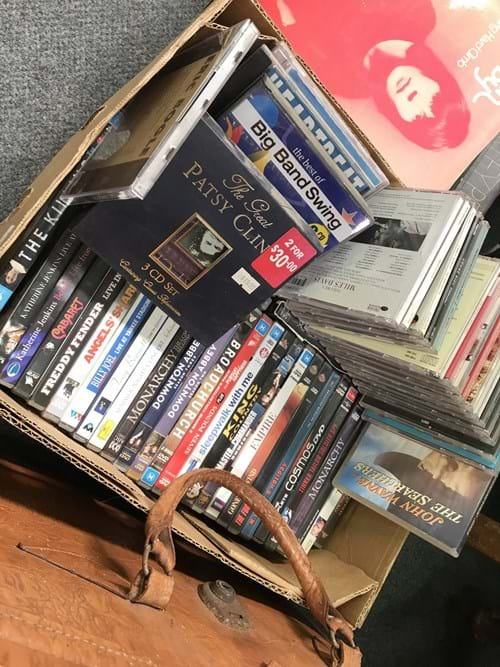 LOT 346	~	Box of CD's & DVD's