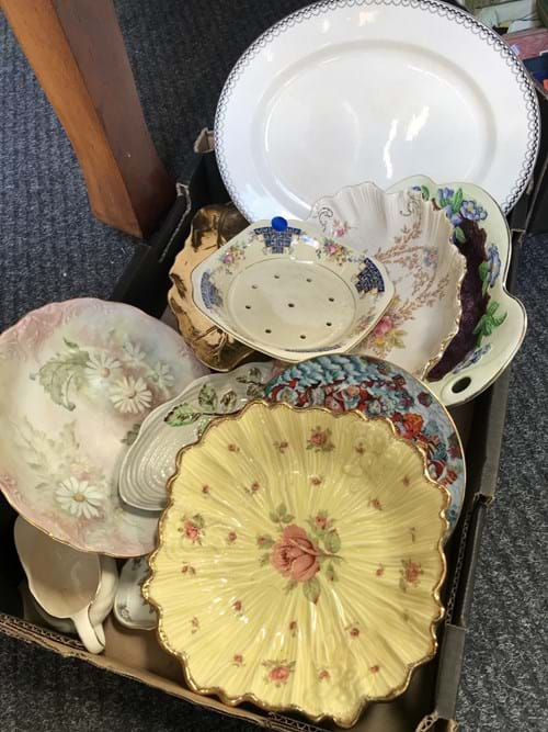 LOT 350	~	Box of China etc
