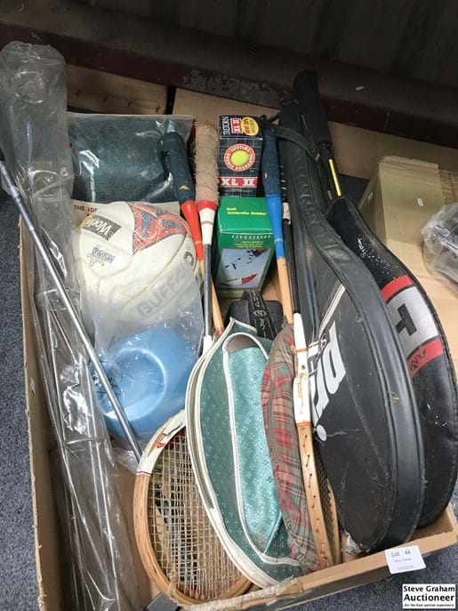 LOT 44	~	Box Of Sporting Goods