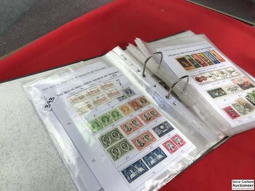 LOT 393	~	Folder of Victorian State Stamps, World Stamps, Postal History etc