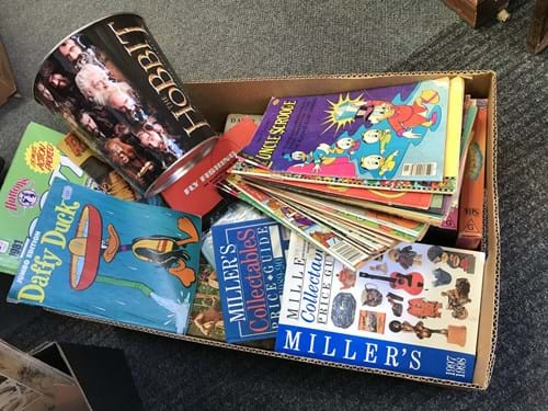 LOT 352	~	Box of Comics, Millers Guide, Asstd