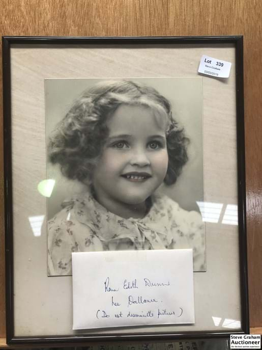 LOT 339	~	Photograph of Young Girl