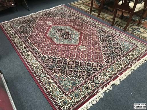 LOT 344	~	200cm x 290cm Large Red Tones Egyptian Rug