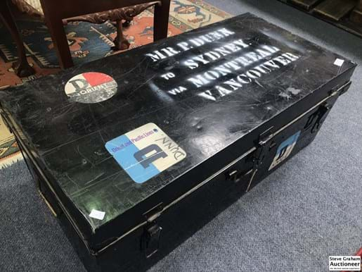 LOT 365	~	Tin Trunk, Mr.P.DUNN To Sydney Via Montreal Vancouver