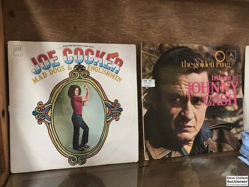LOT 39	~	8 LP Records incl Johnny Cash,Wham,Roy Orbison,Joe Cocker,CCR,Barry White,Bee Gees and Marcia Hines
