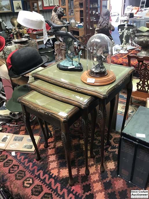 LOT 384	~	Nest of 3 Tables