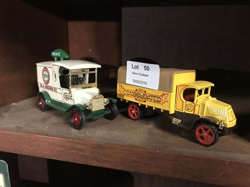 LOT 50	~	4 Matchbox Models of Yesteryear Die Cast Trucks