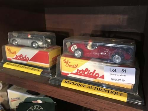 LOT 51	~	Solido Reedition Maserati 250 & Porsche Racing Cars