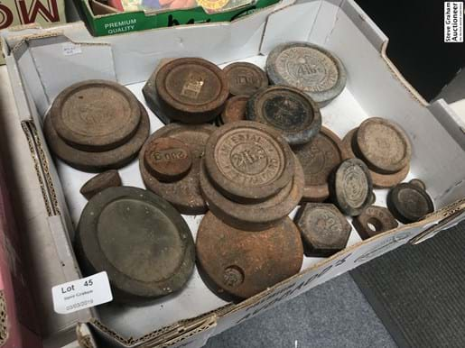 LOT 45	~	Box of Weights