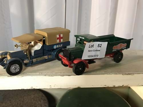 LOT 52	~	4 Matchbox Models of Yesteryear Die Cast Trucks & Cars