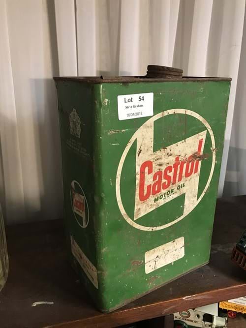 LOT 54	~	Castrol Motor Oil Tin
