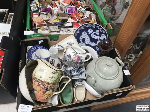 LOT 48	~	Box of China incl Doulton etc.
