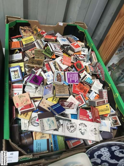 LOT 49	~	Box of Matchbooks & Boxes