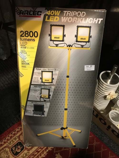 LOT 60	~	40 watt LED Work Light - New in box