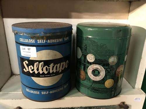 LOT 67	~	Vintage Selotape Tin & Aus Coin Tin