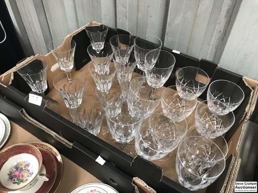 LOT 69	~	Box of Crystal Wine Glasses