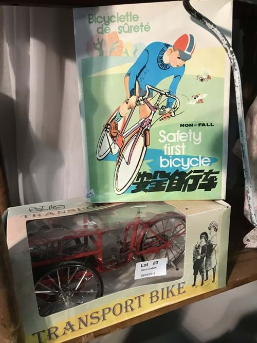 LOT 83	~	Die Cast Transport Bike (boxed) & Bike Rider (boxed)