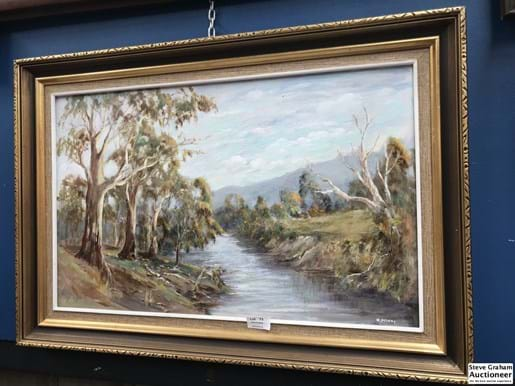 LOT 73	~	Framed Painting Fitzroy River By H. Mckay