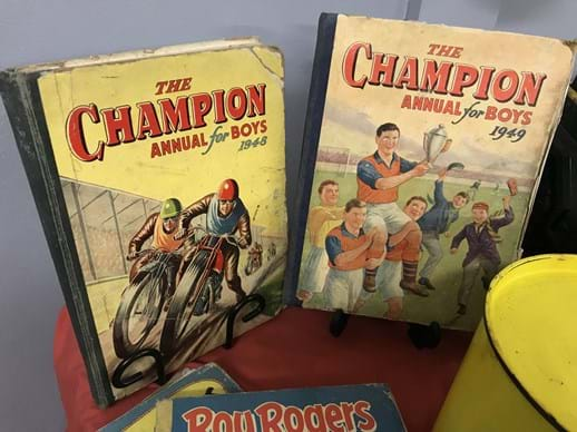 LOT 6	~	The Champion Annual for Boys 1948 & 49 + 2 Roy Rogers Comic Albums