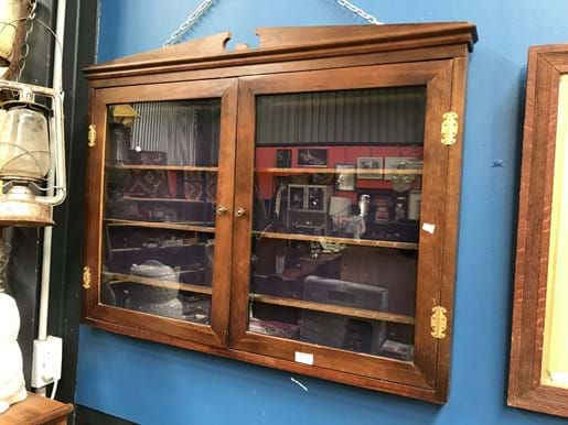 LOT 33	~	2 Glass Door Wall Mounted Display Cabinet