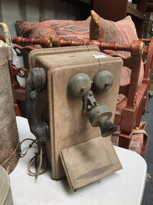 LOT 57	~	Restorers Timber Cased Telephone