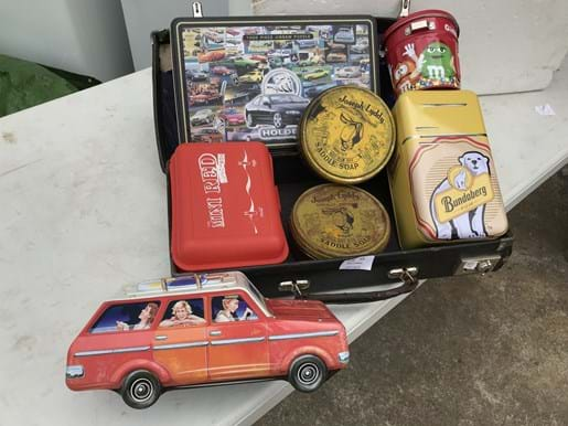 LOT 77	~	Case of Tins, Coca Cola Lunch Box etc