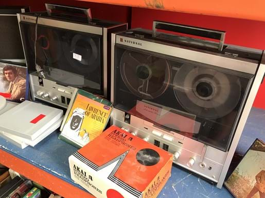 LOT 81	~	2 National Tape Recorder & Speakers with Manuals, Microphone, Tapes etc