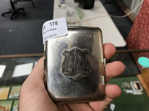 LOT 178	~	Cigarette Case & Matchbox Holder Plymouth