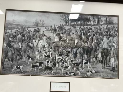 LOT 190	~	'La Chasse' Framed French Hunting Print