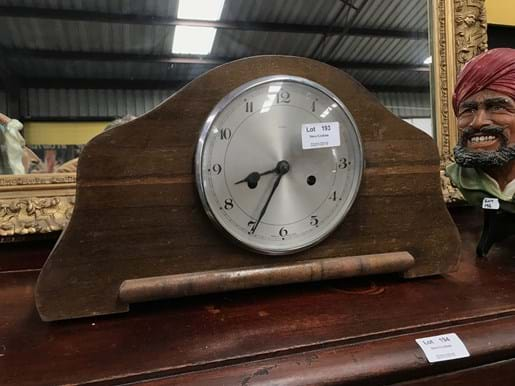 LOT 193	~	Enfield Timber Cased Mantle Clock