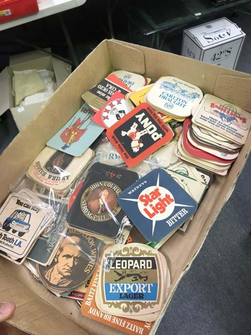 LOT 224	~	Box of Collectable Bar Coasters