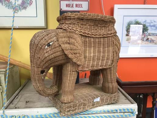LOT 236	~	Wicker Elephant Planter Stand