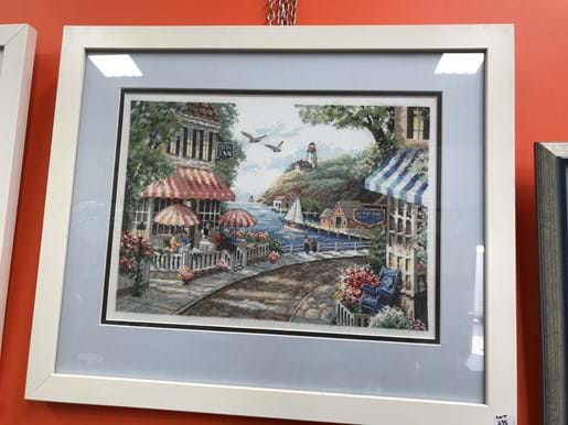LOT 238	~	5 Tapestry Pictures in White Frames