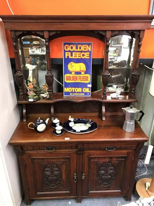 LOT 244	~	Late Victorian Mirrored Sideboard - af
