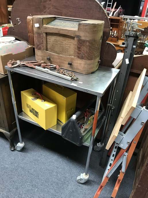 LOT 262	~	Stainless Steel Work Trolley