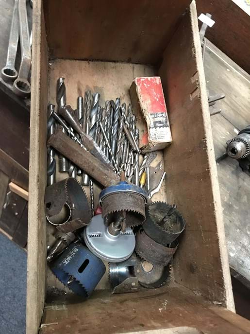 LOT 308	~	Tray of Drill Bits, Hole Saws etc