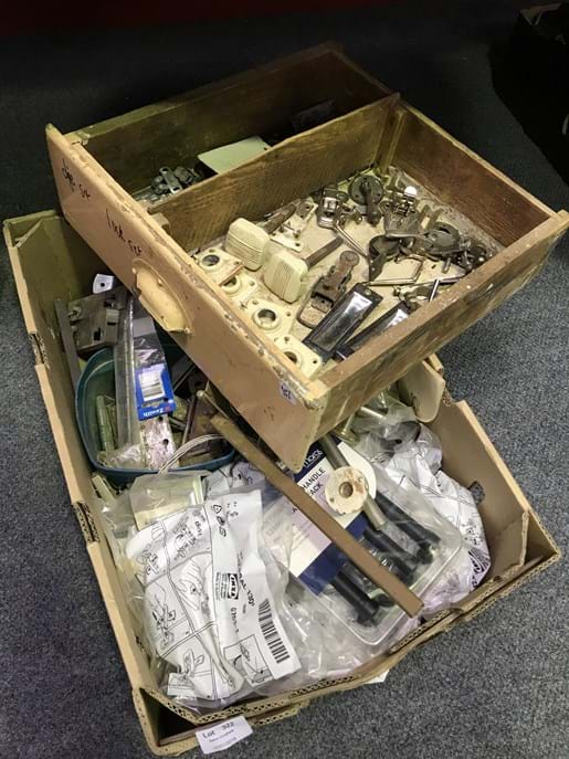 LOT 322	~	2 x Boxes of Hardware Fittings etc.