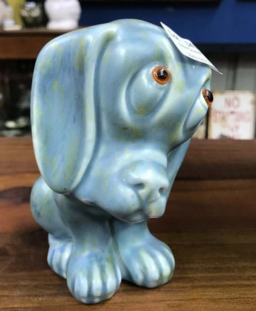 LOT 343	~	Crown Devon 1930's Droopy Dog Figure with sticker
