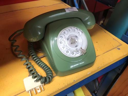 LOT 502 ~ 1970's Green Rotary Telephone